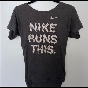 "Nike ""Nike Runs This"" Tshirt"